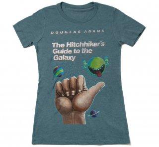 Douglas Adams / The Hitchhiker's Guide to the Galaxy Tee (Indigo) (Womens)