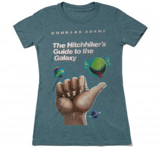 Douglas Adams / The Hitchhiker's Guide to the Galaxy Tee (Indigo) (Womens)