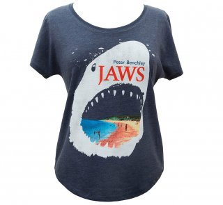 Peter Benchley / Jaws Dolman Tee (Vintage Navy) (Womens)