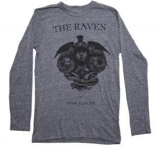Edgar Allan Poe / The Raven Long Sleeve Tee (Grey)