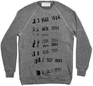 Library Stamp Sweatshirt (Grey)