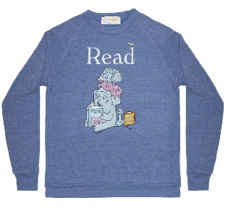 Mo Willems / Read with Elephant & Piggie, and The Pigeon Sweatshirt (Pacific Blue)