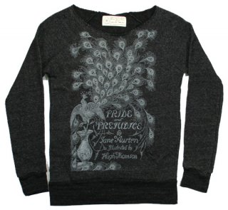 Jane Austen / Pride and Prejudice Fleece (Black Heather) (Womens)