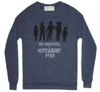 Mark Twain / Adventures of Huckleberry Finn Sweatshirt (Navy)
