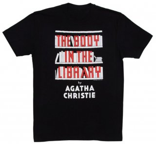 Agatha Christie / The Body in the Library Tee (Black)