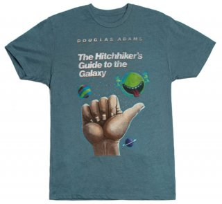 Douglas Adams / The Hitchhiker's Guide to the Galaxy Tee (Indigo)