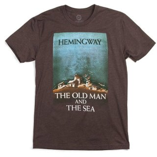 Ernest Hemingway / The Old Man and The Sea Tee (Espresso)
