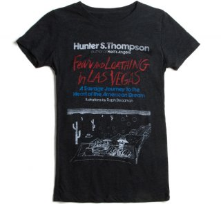 Hunter S. Thompson / Fear and Loathing in Las Vegas Tee (Black) (Womens)