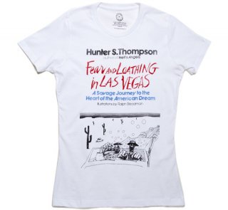 Hunter S. Thompson / Fear and Loathing in Las Vegas Tee (White) (Womens)
