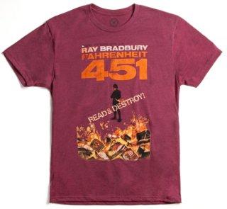 Ray Bradbury / Fahrenheit 451 Tee (Red)