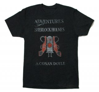 Arthur Conan Doyle / The Adventures of Sherlock Holmes Tee (Charcoal)