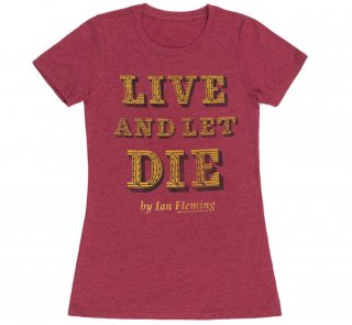 Ian Fleming / Live and Let Die Tee (Red) (Womens)