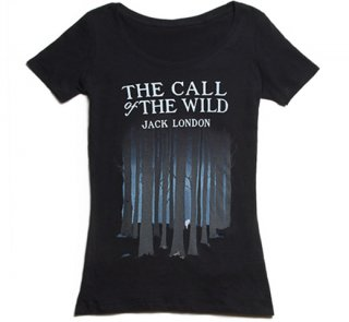 Jack London / The Call of the Wild Scoop Neck Tee (Black) (Womens)
