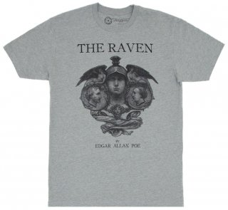 Edgar Allan Poe / The Raven Tee (Heather Grey)