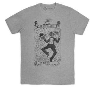 Ex Libris Scott Fitzgerald Tee (Dark Heather Grey)