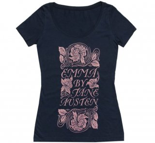 Jane Austen / Emma Scoop Neck Tee [Gilded] (Midnight Navy) (Womens)