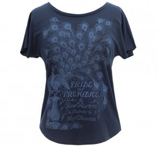 Jane Austen / Pride and Prejudice Dolman Tee (Midnight Navy) (Womens)