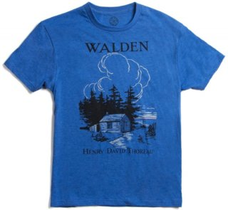 Henry David Thoreau / Walden Tee (Blue)