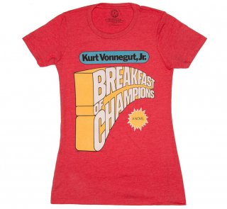 Kurt Vonnegut / Breakfast of Champions Tee (Red) (Womens)