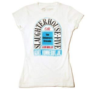 Kurt Vonnegut / Slaughterhouse-Five Tee (White) (Womens)