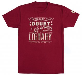 Hermione Granger / When in doubt, go to the library Tee (Gryffindor Red)