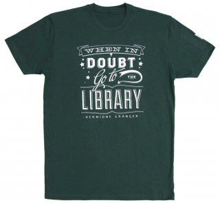 Hermione Granger / When in doubt, go to the library Tee (Slytherin Green)