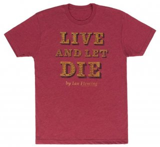 Ian Fleming / Live and Let Die Tee (Red)