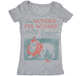 L. Frank Baum / The Wonderful Wizard of Oz Scoop Neck Tee (Heather Grey) (Womens)