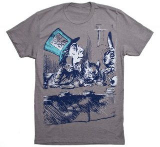 Lewis Carroll / Alice's Adventures in Wonderland Tee (Stone Grey)