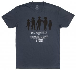 Mark Twain / Adventures of Huckleberry Finn Tee (Indigo)