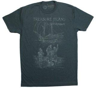 R. L. Stevenson / Treasure Island Tee (Indigo)