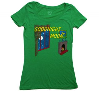 <img class='new_mark_img1' src='https://img.shop-pro.jp/img/new/icons14.gif' style='border:none;display:inline;margin:0px;padding:0px;width:auto;' />Margaret Wise Brown / Goodnight Moon Tee (Kelly Green) (Womens)