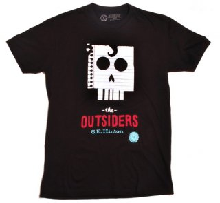 S. E. Hinton / The Outsiders Tee (Black)