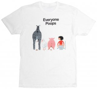 五味太郎 / Everyone Poops Tee (White)