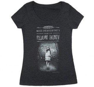 Ransom Riggs / Miss Peregrine's Home for Peculiar Children Scoop Neck Tee (Black) (Womens)