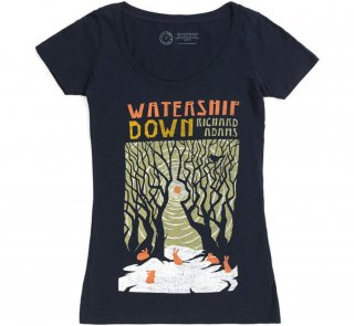 Richard Adams / Watership Down Scoop Neck Tee (Midnight Navy) (Womens)