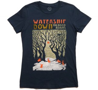 Richard Adams / Watership Down Tee (Indigo) (Womens)