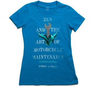 Robert M. Pirsig / Zen and the Art of Motorcycle Maintenance Tee (Turquoise) (Womens)