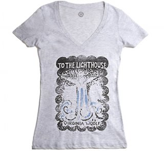 Virginia Woolf / To the Lighthouse V-Neck Tee (Oatmeal) (Womens