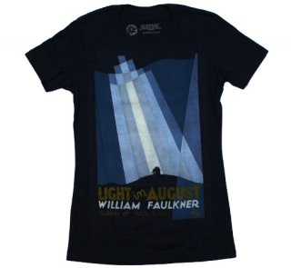 William Faulkner / Light in August Tee (Navy) (Womens)