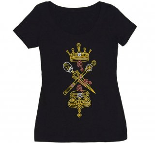 William Shakespeare / Macbeth Scoop Neck Tee (Black) (Womens)