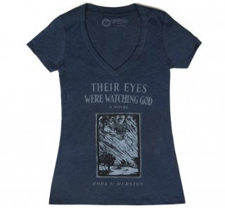 Zora Neale Hurston / Their Eyes Were Watching God V-Neck Tee (Midnight Navy) (Womens)
