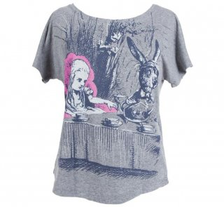 Lewis Carroll / Alice's Adventures in Wonderland Dolman Tee (Heather Grey) (Womens)