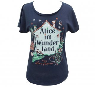 <img class='new_mark_img1' src='https://img.shop-pro.jp/img/new/icons14.gif' style='border:none;display:inline;margin:0px;padding:0px;width:auto;' />Lewis Carroll / Alice im Wunderland Relaxed Fit Tee (Midnight Navy) (Womens)