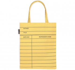 <img class='new_mark_img1' src='https://img.shop-pro.jp/img/new/icons14.gif' style='border:none;display:inline;margin:0px;padding:0px;width:auto;' />Library Card Tote Bag (Light Yellow)