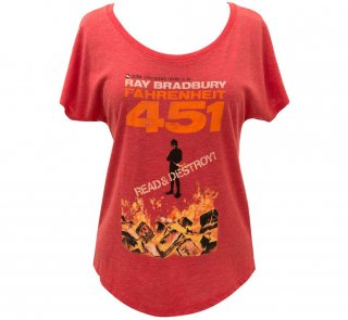 Ray Bradbury / Fahrenheit 451 Relaxed Fit Tee (Womens) (Red)