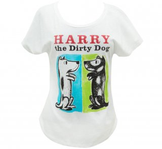 Gene Zion / Harry the Dirty Dog Relaxed Fit Tee (White) (Womens)