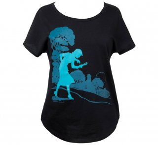 Carolyn Keene / Nancy Drew Relaxed Fit Tee (Midnight Navy) (Womens)