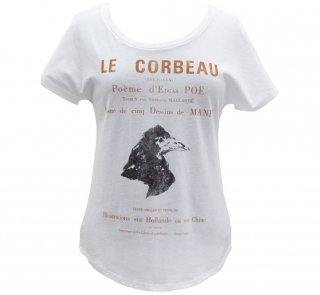 <img class='new_mark_img1' src='https://img.shop-pro.jp/img/new/icons14.gif' style='border:none;display:inline;margin:0px;padding:0px;width:auto;' />Edgar Allan Poe / Le Corbeau Relaxed Fit Tee (White) (Womens)