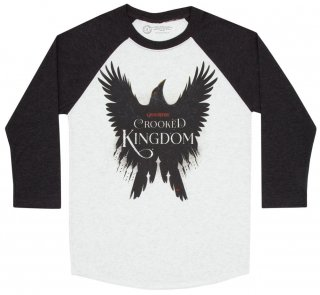 <img class='new_mark_img1' src='https://img.shop-pro.jp/img/new/icons14.gif' style='border:none;display:inline;margin:0px;padding:0px;width:auto;' />Leigh Bardugo / Crooked Kingdom Raglan Tee (Heather White/Indigo)